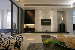 现代客厅电视墙装饰图片