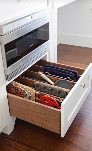 厨房间橱柜内设图
