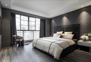 卧室双人床实拍图