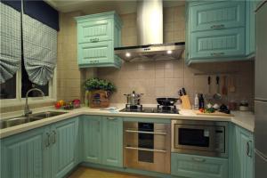 彩色瓷砖厨柜