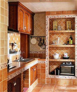 古典砖砌橱柜