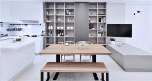 现代好看的开放式厨房橱柜-