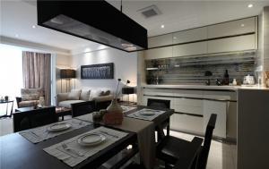 开放式厨房酒柜装修效果图