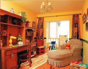 儿童房装修效果图男孩书房