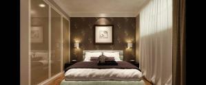 现代时尚卧室隐形门装修效