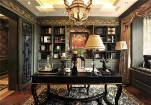 美式书房装修效果图欣赏