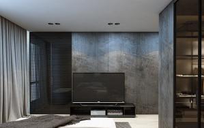 卧室现代风格电视背景墙