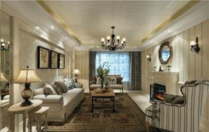 欧式沙发背景墙客厅设计
