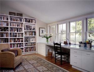 阁楼美式书房装修效果图