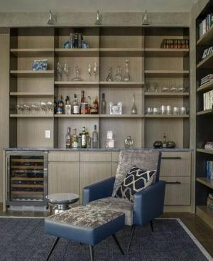 家装设计酒柜实景图