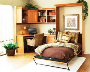 实木隐形床实拍图