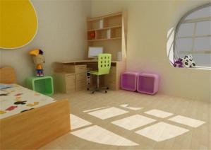 实木儿童房装修效果图男孩