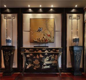中式电视背景墙装饰物