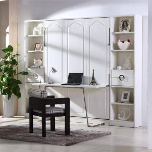 折叠书柜隐藏桌子
