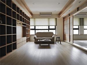 现代日式背景墙