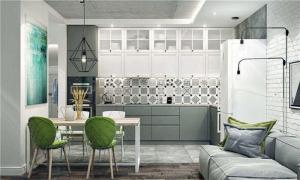 现代好看的厨房间橱柜