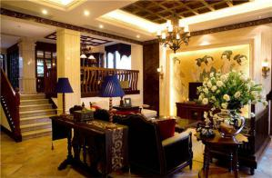 唐朝风客厅电视墙装饰图片