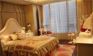 儿童房窗帘效果图实景图
