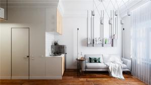 双层小户型装修客厅设计