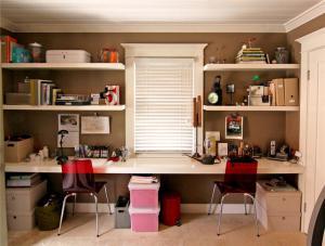 双人儿童书房装修设计