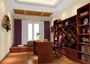 中式风格书房榻榻米房