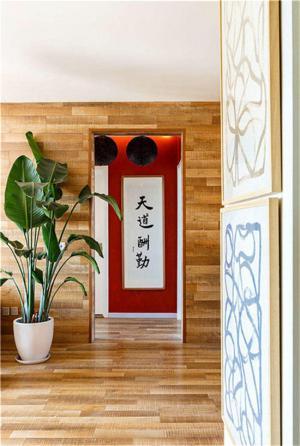中式玄关墙装修效果图
