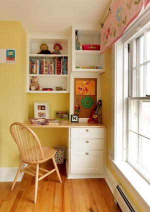 国外儿童房书桌设计