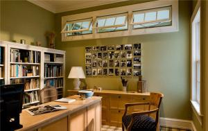 复式实木日式书房