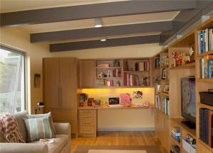 L型小书房书柜
