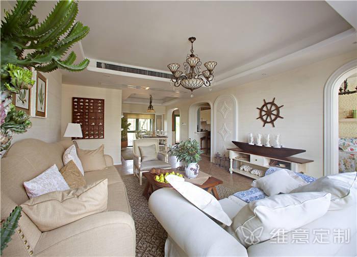 客厅摆床效果�_公寓客厅沙发摆放效果图-维意定制家具网上商城