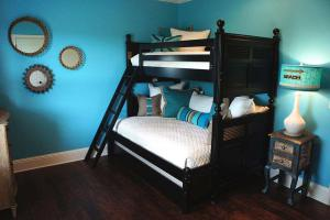 简欧家装风格小卧室高低床