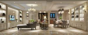 现代简约四居室客厅酒柜装
