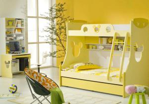 小别墅卧室高低床装修效果