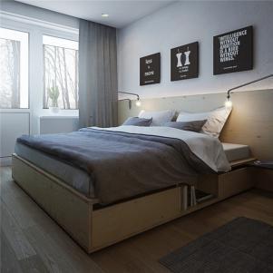 小户型复式装修购买卧室床