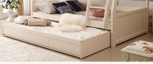 欧式字母实木卧室二层床