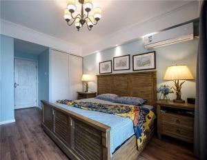 东南亚卧室双人床实木床