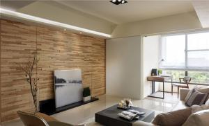 日式客厅电视墙效果图