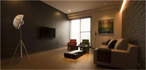 简约客厅背景墙家具
