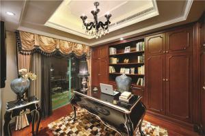 实木美式创意书桌