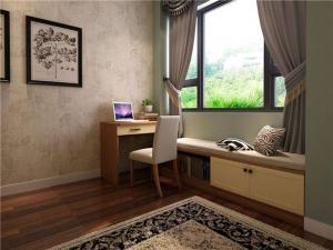 飘窗书桌3D效果图