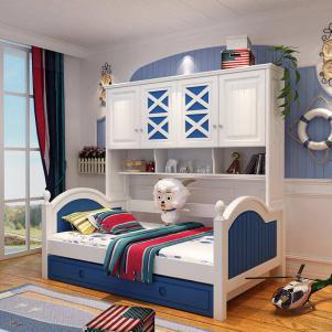 多功能组合上下床带衣柜