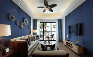 地中海风格客厅电视墙装饰