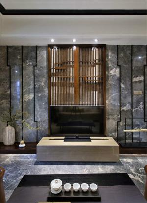 中式电视墙装修效果图大全
