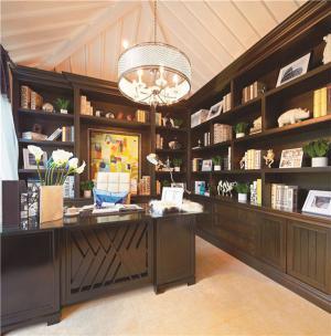 欧式书房装修效果图定制设