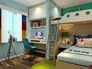 维意卧室上下床装修效果图