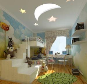 儿童房装修实例吊顶设计