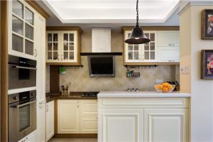 整体厨柜布置背景设计