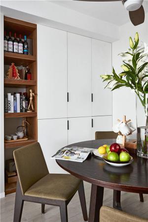 实木搭配简易书柜