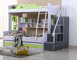 双层儿童床书桌