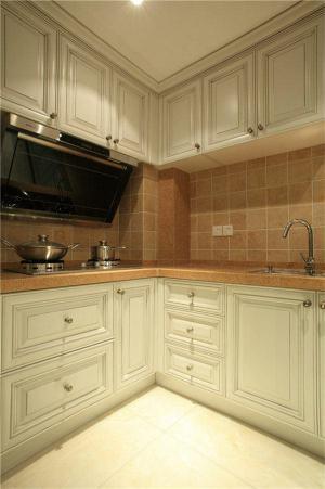 小厨房橱柜L型实景图